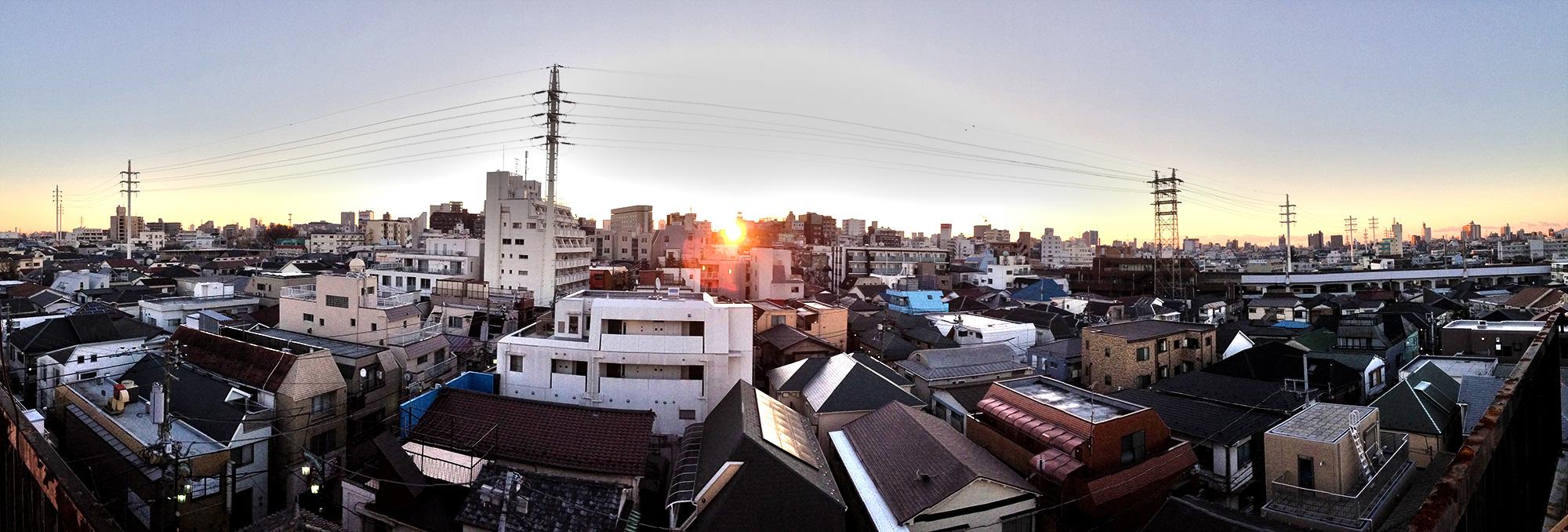 高円寺の朝日